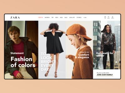 Redesign Concept ZARA Home Page