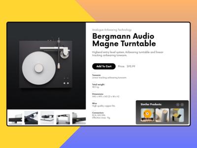 Bergmann Audio Magne Turntable