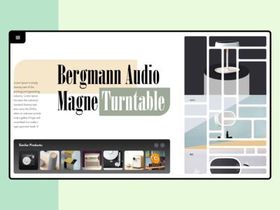 UI Design for Product - Bergmann Audiomagne Turntable