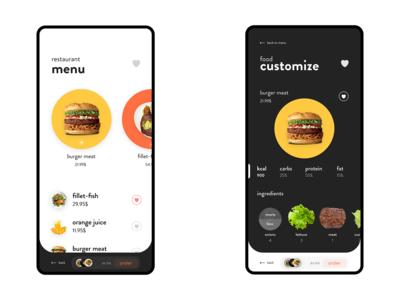 Restaurant Mobile UI