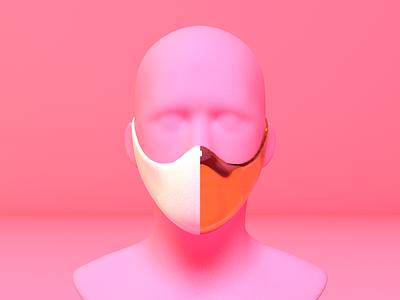 Just a reminder to... 3d surrealism artificial pink reminder cinema4d coronavirus mask