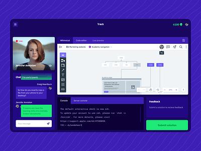 Concept screen: Instruqt workshop environment figma ui learning tech environment workshop learning platform