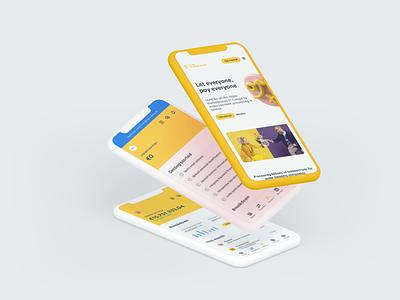 Concept Screens for Online Payment Platform colorfull colorful ui digital 3d art 3d brand design brand yellow interface design interface digital product design digital product transactions online payments