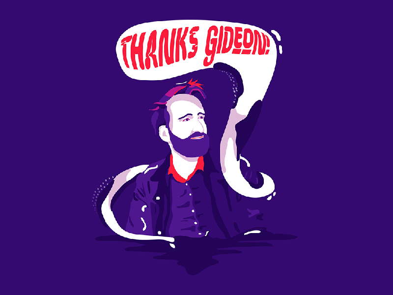 Hi everyone! god color digital 2d illustrator gideon thanks upload illustration shot dribbble first