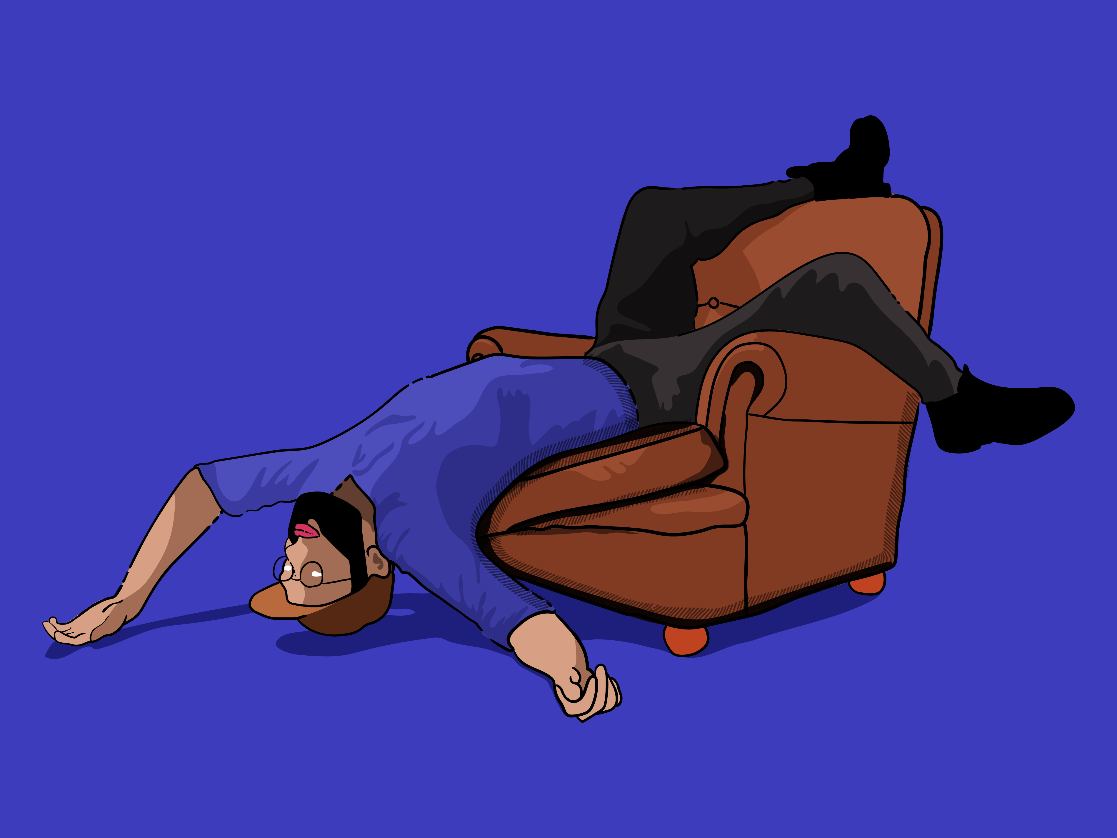 Dylan upside down on chair   dribbble 3x