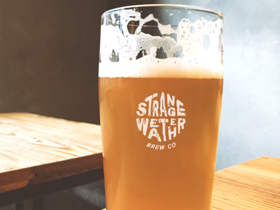 Strange Weather Brew Co brew brewery branding brewing identity brand visual identity logo brewing company brewery logo brewery