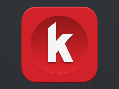 Kippt / Klipps OSX Icon kippt klipps osx icon brand id visual identity logo application app red custom