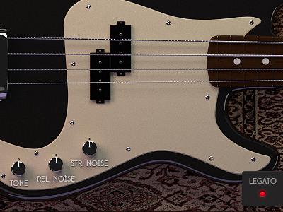Bass UI 3d modelling bass instrument fender carpet materials music kontakt5