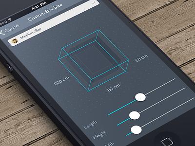 snap&ship shipping app brand visual identity application app ui ux native software shipping crate box