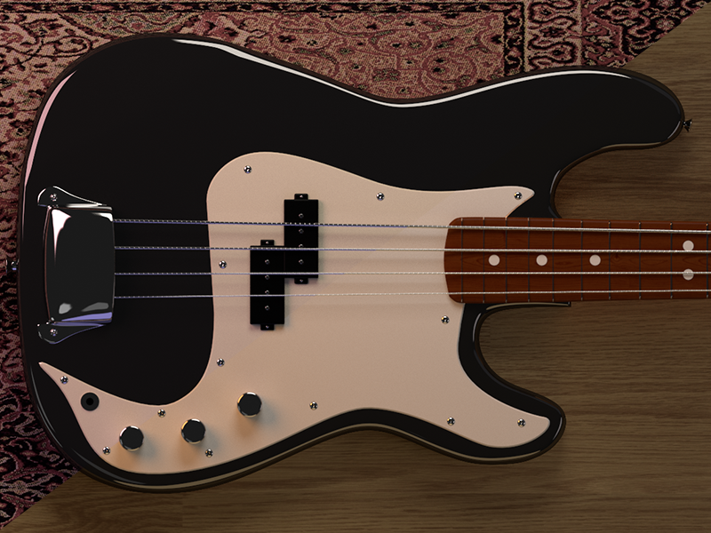 Bass project 3d render rendering music ui model bass cgi cg sampling