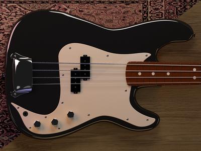 Bass project 3d render rendering music ui model bass cgi cg sampling