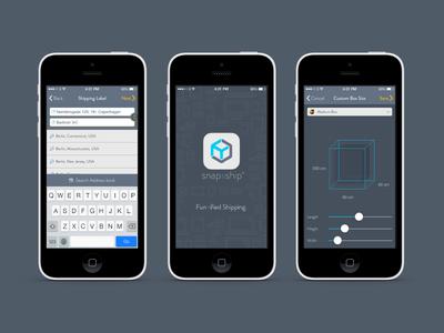 snap&ship shipping app ui