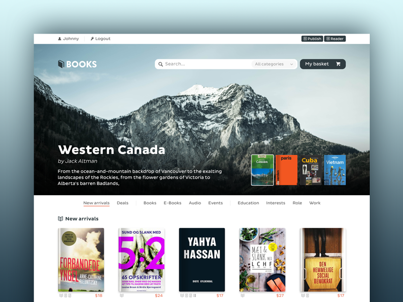 Book Store Concept ui ux books ecommerce ebooks covers store webshop