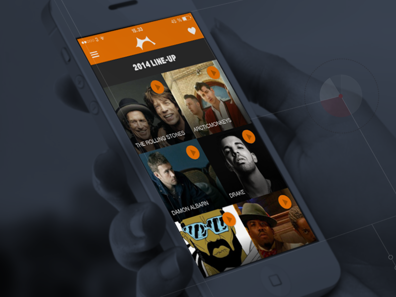 Roskilde Festival - Official 2014 App ui ux apps application ios music festival roskilde android denmark cph