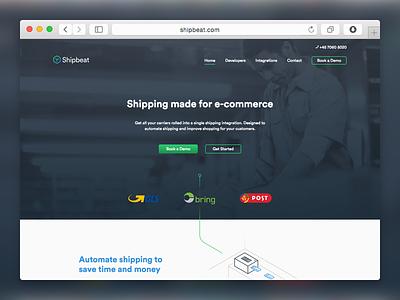 Shipbeat Website web ui ux api tech startup identity website saas