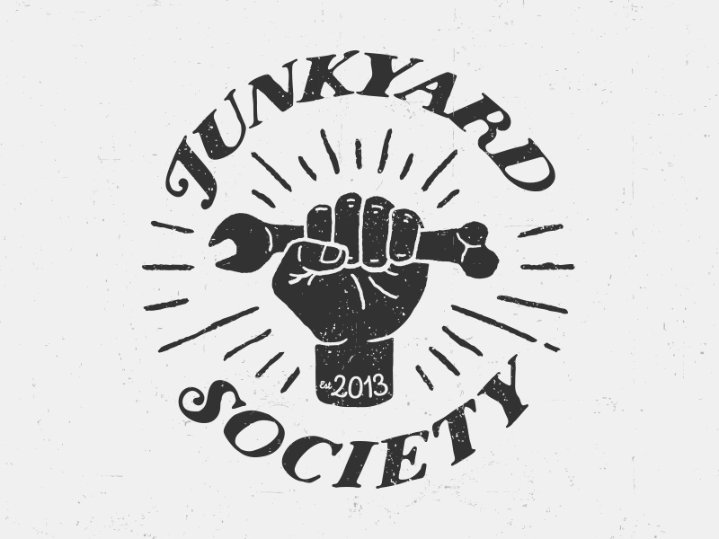 Junkyard Society MC biker bikers bike wrench badge motorcycle mc motorcycle club