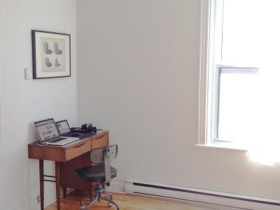Workdesk at home work desk workdesk setup workspace home station workstation teak light minimal