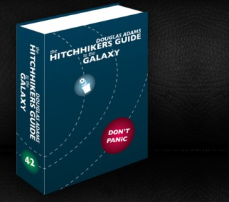 New cover for the Hitchhikers Guide to the Galaxy