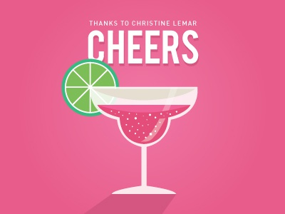 Cheers!  glass lime thank you margarita