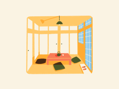 Japanese minimalist home procreate illustration minimalism japanese japan