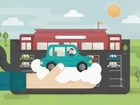 Promotional illustration for Parking Concept