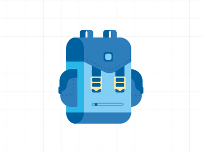 Robot Backpack backpack bag satchel robot icon flat illustrator