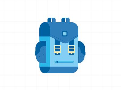 Robot Backpack backpack bag satchel robot icon flat illustrator