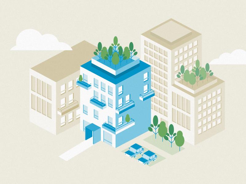 Building building city ecocity isometric habitation apartment