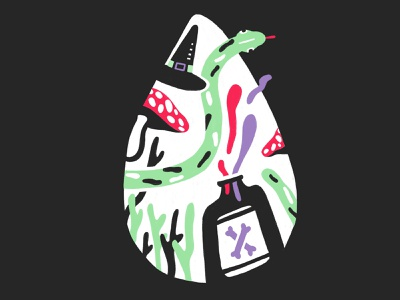 Poison — #1 Inktober 2018 illustration mushroom snake procreate poison inktober 2018