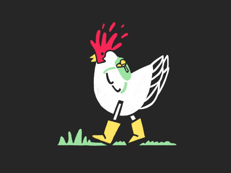 Chicken adventure procreate hen chicken inktober 2018 illustration
