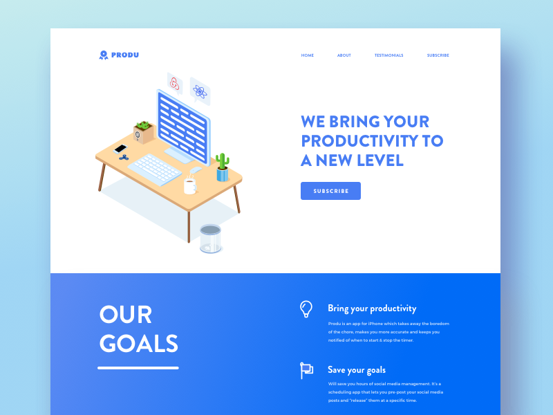 Landing Page for Productivity Application website android ios productivity landing web application