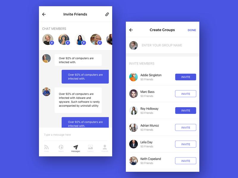 Peachy Mobile Application For Chat Rooms By Ergonized On Dribbble Interior Design Ideas Oteneahmetsinanyavuzinfo