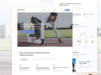 RKA Landing Page website web design ui ux product trainers training minimalistic page landing clean
