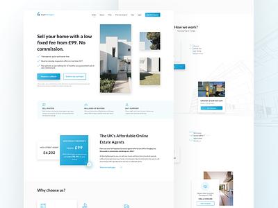 Real Estate Agency app clean website webdesign design web ux ui agency realestate landing