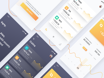Crypto tracker design design dashboard clean white dark crypto wallet crypto currency ios ux ui app