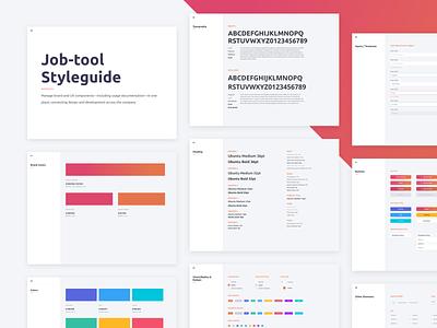 Job-tool Styleguide dsm brand design interface sketch clean web ux ui styleguide