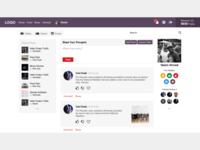 Social Networking Website UI