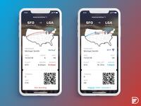 Daily UI - Boarding Pass