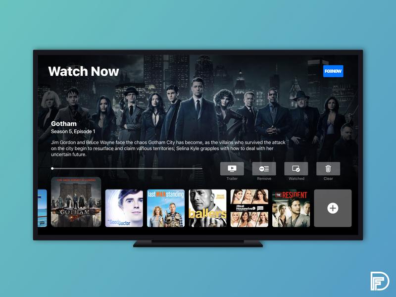 Apple TV App Redesign colors typography television movie app ux ui design apple appletv tv
