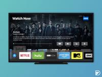 Apple TV App Redesign w Dock