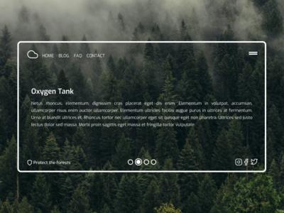 Website Concept minimalist minimal figma vector forest ux ui design webdesign web design web website