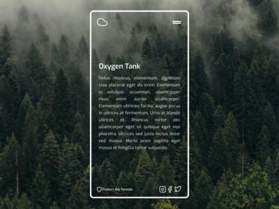Website Concept mobile design mobile webdesign web vector ui ux minimalist minimal forest figma design