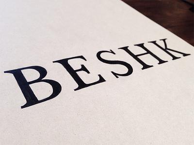 Beshk logotype logo lettering hand lettering sketch brand