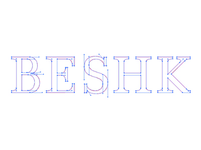 Vector Beshk vector script hand lettering logotype beshk