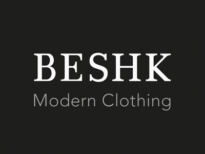 Beshk lettering logotype vector beshk brand