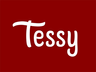 Tessy logotype logo lettering branding tessy