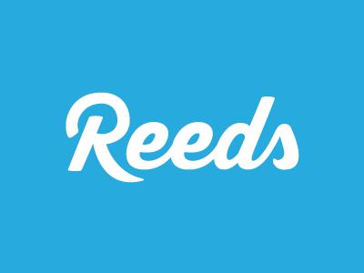 Reeds logotype logo brand lettering handlettering reeds