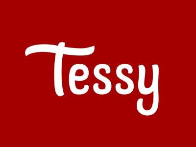 Tessy logotype logo brand lettering tessy