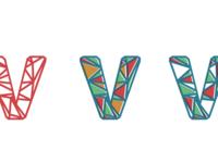 Letter V Logo Concept for Veepio Branding