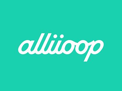 Alliioop Logotype custom type brand identity script type logotype brand ecommerce alliioop
